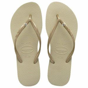 Havaianas Slim Crystal Glamour Flip Flops Size 6W